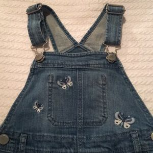 Energetic New Oshkosh Girls Patch Rainbow Denim Jeans Overalls Vestbak Nwt 12m 18m 24m 4t Outfits, Sets Baby
